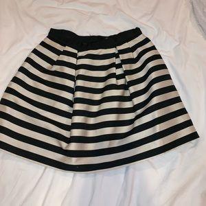 Stripe black and cream skirt
